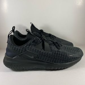 Triple black Nike renew running shoe